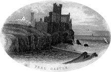 peel castle from pigot 1836  this map with its attactive vignette of peel